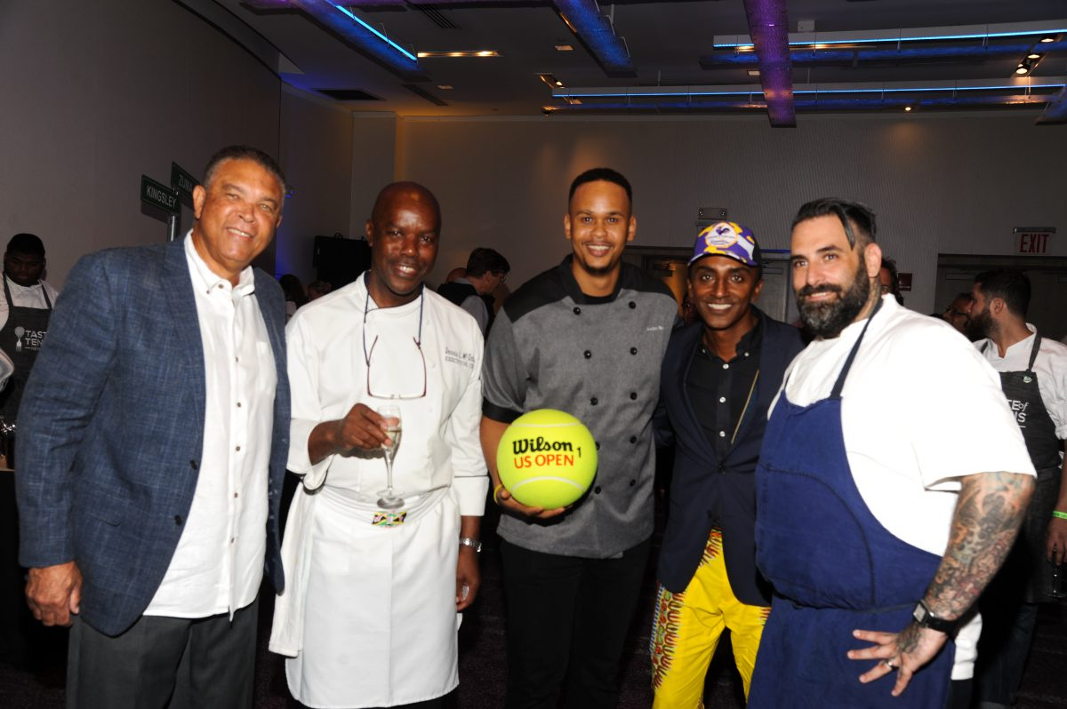 Donnie Dawson with Chefs Dennis McIntosh and Andre Fowles
