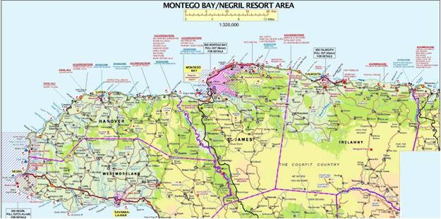 Resort Areas Jamaica Tourist Board – Tourist Attractions Map In Jamaica